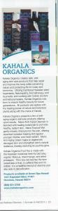 Kahala Organics Natural Cosmetics future in Wellness Magazine