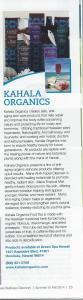 Kahala Organics Natural Cosmetics future in Wellness Magazine